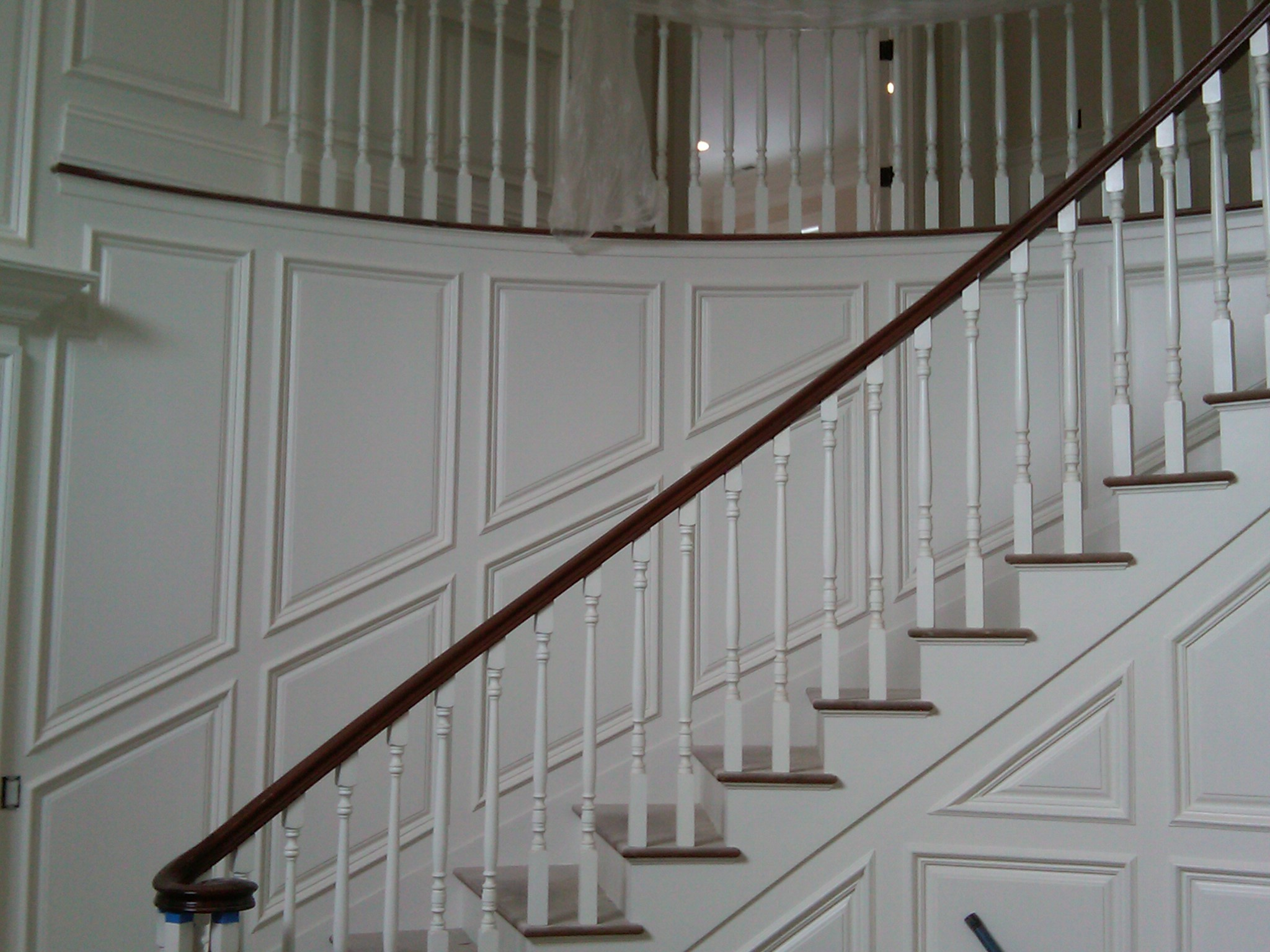 Curved stair panels